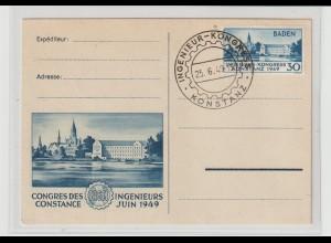 Baden: Ingenieur-Kongress auf Anlasskarte mit SSt.