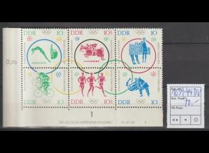 DDR-Druckvermerke: Olympia-Sechserblock (1964)