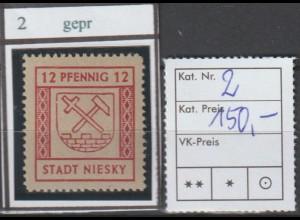 Niesky,Nr. 22, ** (MNH), gepr. Ströh BPP