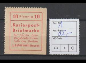 Lauterbach, gezähnt ** (MNH)