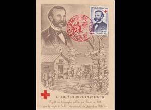 Rotes Kreuz: Französische Maximumkarte von 1958 mit H. Dunant