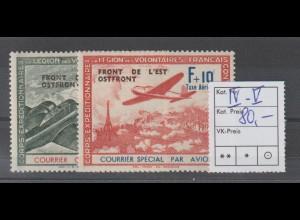 Dt. Besetzung 2. WK: Frankreich Flugzeuge mit Aufdruck, **