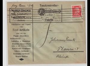 """Reklameumschlag: """"Tanzkontroller-Fabrik"""" (was ist das?), Tannenberg Erzgeb."""