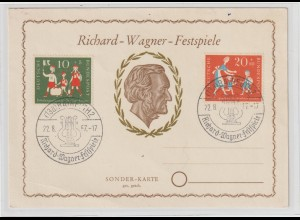 Ereigniskarte: Richard-Wagner-Festspiele Bayreuth 1957