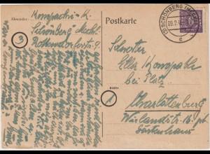 Mecklenburg-VP: Bedarfs-Fernkarte mit Frankatur 9c