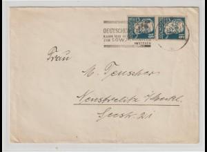 Köpfe I: Doppelbrief mit 2x 16-Pfg.-Marke in c-Farbe, gepr.