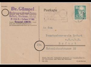 Köpfe I: Bedarfskarte mit 20-Pfg.-Marke in b-Farbe, gepr.