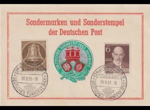 Bund: Ereigniskarte Turnfest 1953 Hamburg