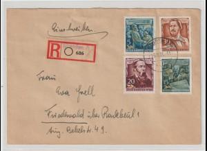 DDR: Einschreibbrief mit Engels-Frankatur
