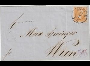 Preußen: Nr. 12a auf Brief Berlin - Wien; gepr. Brettl