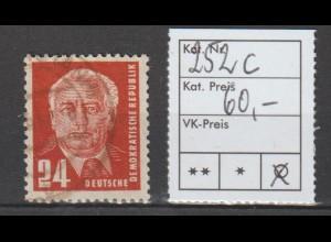 DDR Pieck I: 24 Pfg. in c-Farbe, gestempelt, geprüft