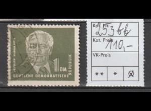 DDR Pieck I: 1 DM. in bb-Farbe, gestempelt, geprüft