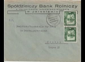 Gen.-Gouvern.: Bedarfsbrief mit 2x Nr. 43