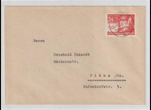 Gen.-Gouvern.: Fernbrief mit EF Nr. 60 (Winterhilfswerk)