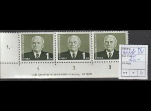 DDR-Druckvermerke: 1 DM Pieck (IV), **