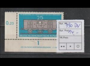 DDR-Druckvermerke: Tag der B>riefmarke Sperrwert 1960, **
