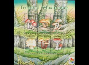 Pilze; Antigua&Barbuda 2001, Kleinbogen, **