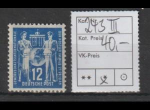 DDR spezial: 12 Pfg. Postgewerkschaft mit PF III, *, BPP-geprüft