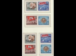DDR: alle Zusammendrucke aus dem Karl-Marx-Block 9A, **