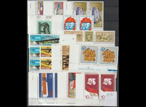 DDR Druckvermerke: Lot aus Jahrgang 1976
