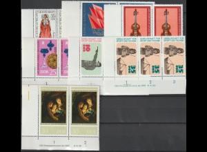 DDR Druckvermerke: Lot aus den Jahrgängen 1977 und 1978