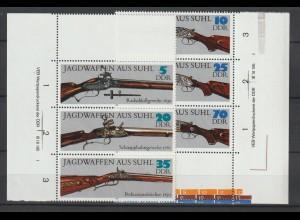 DDR Druckvermerke: Suhler Jagdwaffen (1978); mit Leerfeld