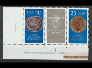 DDR Druckvermerke: Kulturbund (1970)