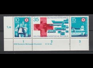 DDR Druckvermerke: Rotes Kreuz (1972)