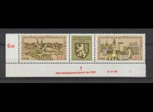 DDR Druckvermerke: Briefmarkenausstellung Gera (1976)