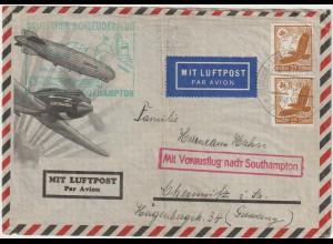 Schleuderflug-Brief mit besserer Frankatur, geprüft Schlegel