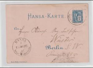 Hansa Berlin Karte bedarfsgebraucht