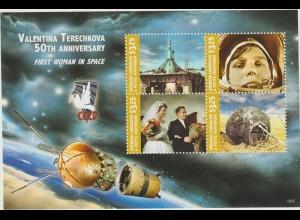 GrenadaL Weltraumflug W. Tereschkowa Kleinbogen und Block