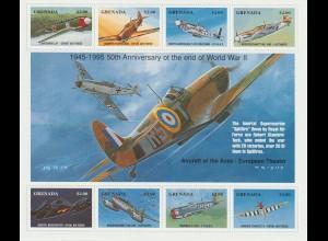 Grenada: Kampfflugzeuge des 2. Weltkriegs Kleinbogen