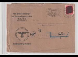 """Überroller"" - Behördenbrief ab Berlin 14.4.45"