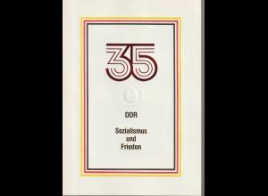 DDR-Gedenkblatt: 35 Jahre DDR (Sozialismus und Frieden)
