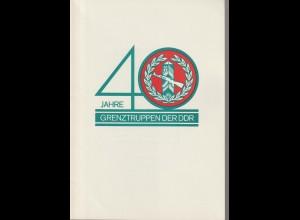 DDR-Gedenkblatt: 40 Jahre Grenztruppen