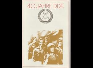DDR-Gedenkblatt: 40 Jahre DDR