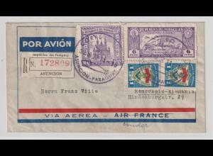 Einschreib-Luftpostbrief aus Paraguay nach Remscheid, 1937