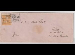 Preußen: Brief von Berlin nach Colberg mit Nr. 12