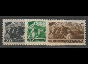 """Sowjetunion: 1256-8 (""""Fünfjahrplan Viehzucht""""), postfrisch ** (MNH)"""