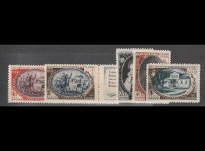 """Sowjetunion: 1348-52 (""""Puschkin""""), postfrisch ** (MNH)"""