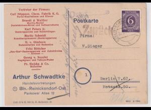"""Bedarfskarte 1946 """"Zurück - Haus zerstört"""""""