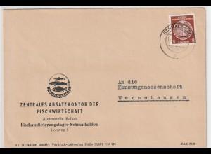 DDR-Dienstpost: Firmenbrief 1. Periode mit EF Nr. 3x, geprüft
