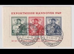 Bizone: Hannovermesseblock mit Sonderstempel, geprüft