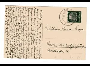 Dt. Besetzung Lothringen: Postkarte mit EF Mi.-Nr. 4
