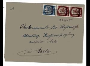 Dt. Bes. Lothringen: Bedarfsbrief mit Mi.-Nr. 2+ 6, Notstempel Mittersheim.