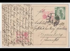 Österreich: Schöne Kunstpostkarte mit roten Zensurstempeln, 1916