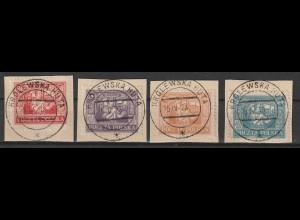 Polen/Ost-Oberschlesien: 17 - 20 kompl. auf Briefstücken