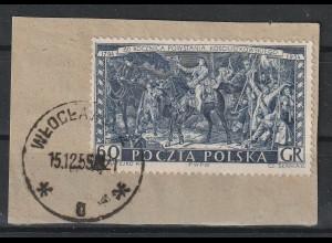 Polen Schlachtengemälde Mi Nr. 883 im Probedruck, Briefstück