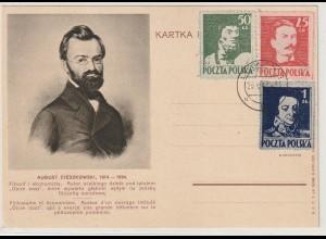 Polen Freiheitskämpfer 1944 auf Bildpostkarte, geprüft